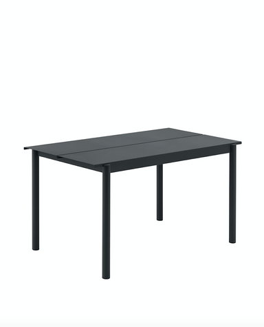 Linear Steel Table 140 - Black