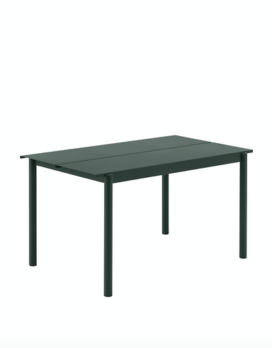 Linear Steel Table 140 - Dark Green