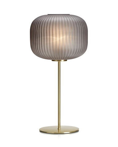 Sober Bordlampe Brass-Smoke