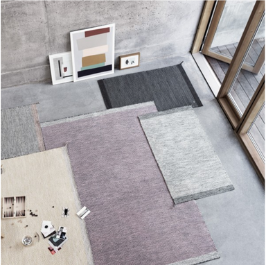 Ply Rug 200x300 cm - Black-White