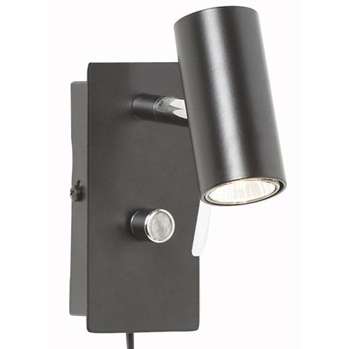Cato vegglampe LED m-dimmer Sort