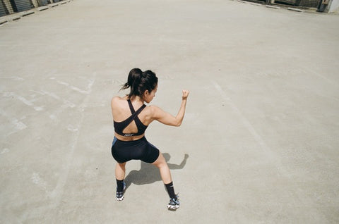 Mona Lavinia building strength through shadow boxing and inspiring women to move their bodies.