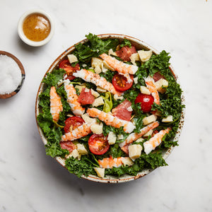Load image into Gallery viewer, La Fromagerie - gourmet salad St Tropez shrimps parmigiano reggiano kale