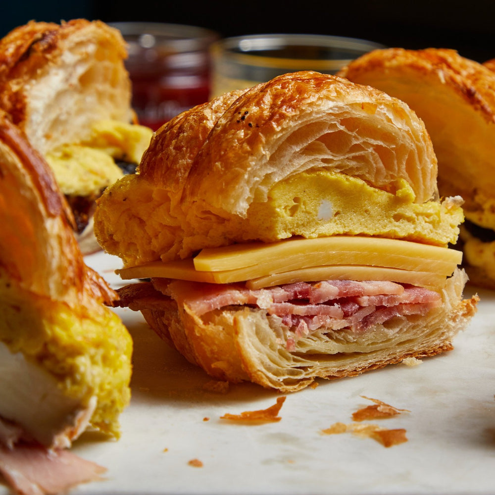 Load image into Gallery viewer, La Fromagerie - Breakfast croissant sandwiches