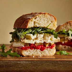 La Fromagerie - gourmet sandwich vegetarian goat cheese roasted red pepper marinated artichokes