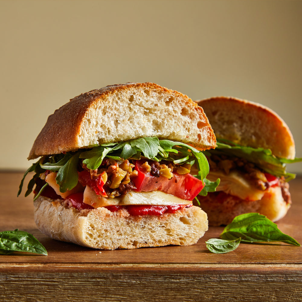 Load image into Gallery viewer, La Fromagerie - gourmet sandwich vegan Picholine shredded olives red pepper artichokes