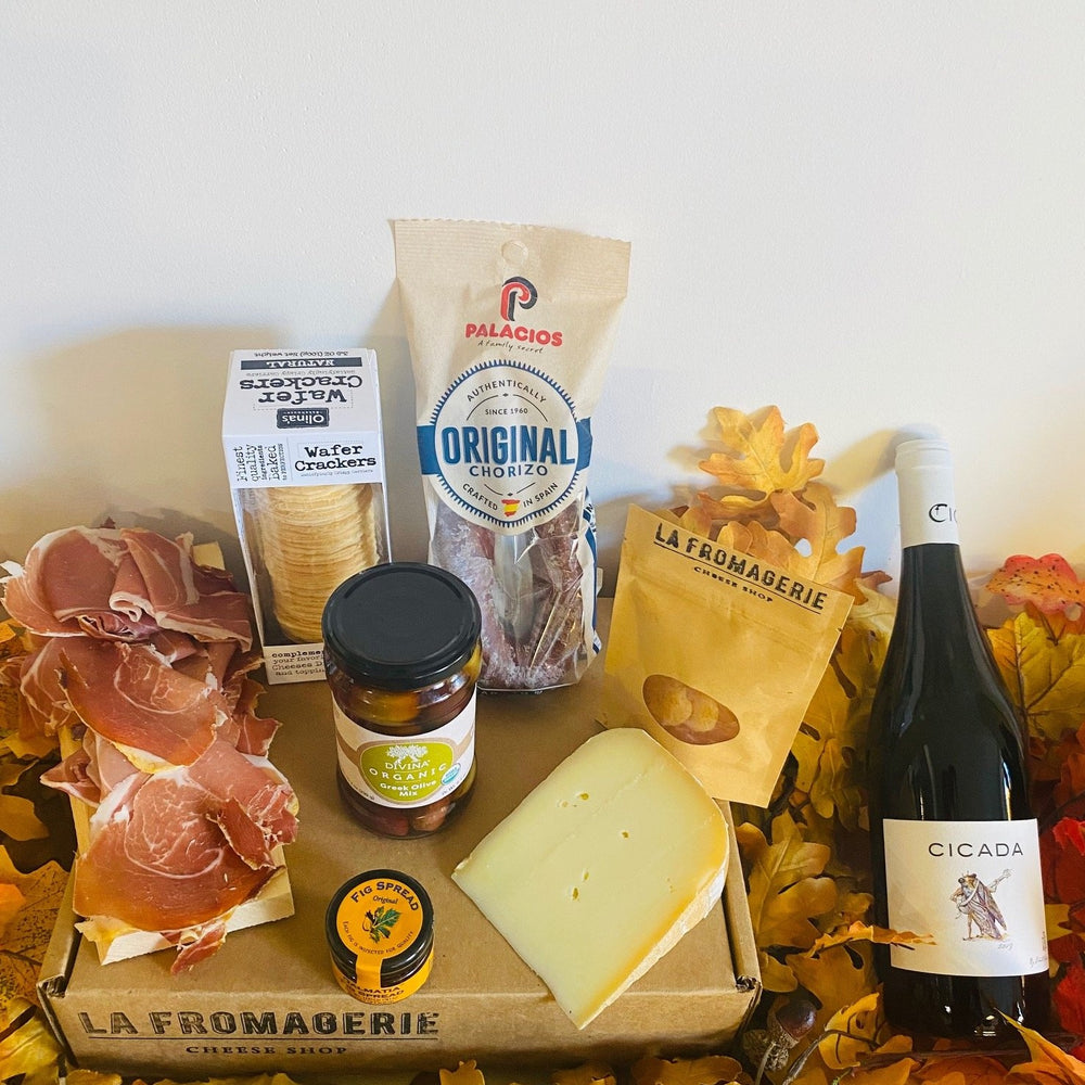 Spanish Tapas Cheese & Meat Gift Box (Refrigerated Box) (Wine Pairing available for CA)