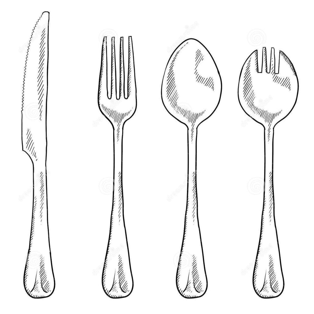 Set of utensils per person