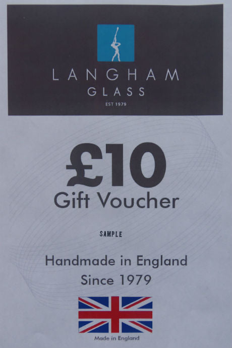 Langham Glass £10 gift voucher