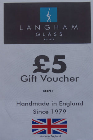 Langham Glass £5 gift voucher