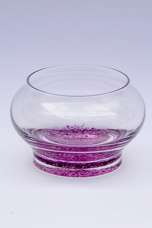 Forever into glass cremation ashes bowl