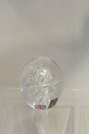 Handmade glass astral paperweight