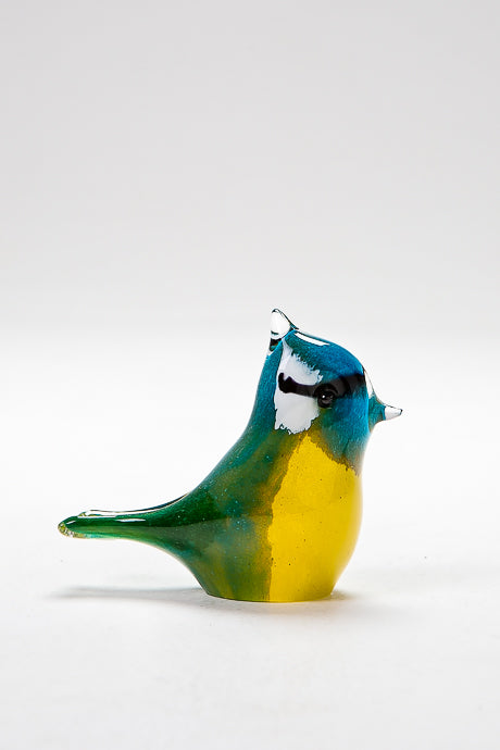 Handmade Blue Tit, made in Norfolk at Langham Glass