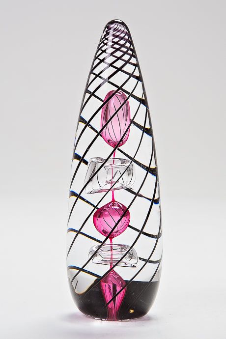 Manhattan Ruby paperweight, handmade at Langham Glass, Norfolk