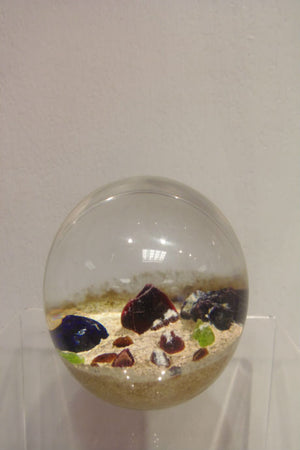 Handmade glass limited edition Desert Mystery paperweight