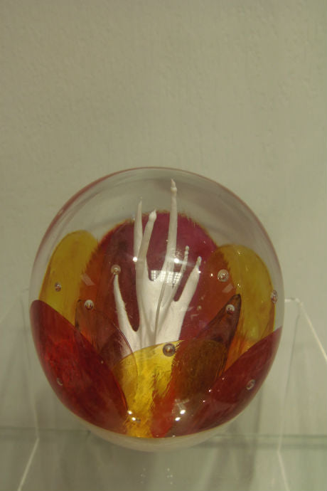 Handmade glass limited edition Destiny paperweight
