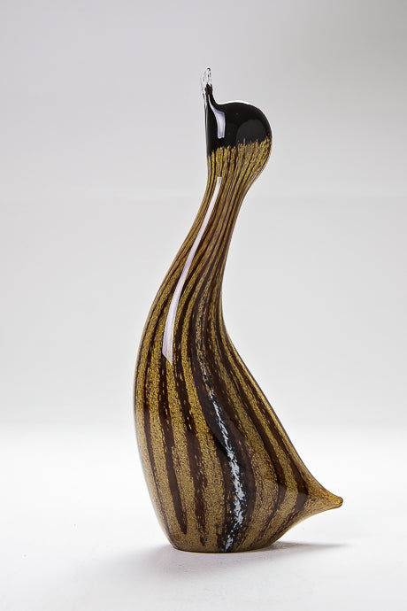 Brown Standing Duck, handmade at Langham Glass