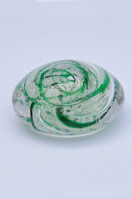 Forever into glass cremation ashes pebble paperweight