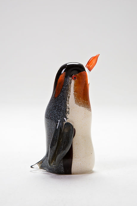 Glass Emperor Penguin made by Langham Glass, Norfolk
