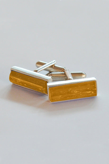 Forever into glass cremation cufflinks