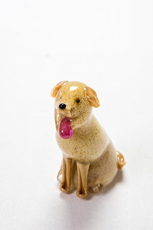 Golden Labrador Handmade at Langham Glass, Norfolk