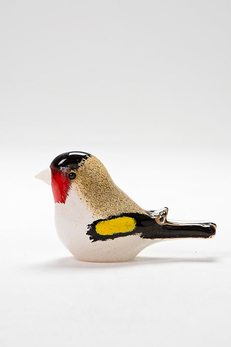 Goldfinch handcrafted in Norfolk at Langham Glass