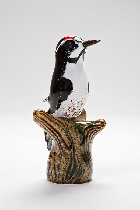 Great Spotted Woodpecker handmade at Langham Glass