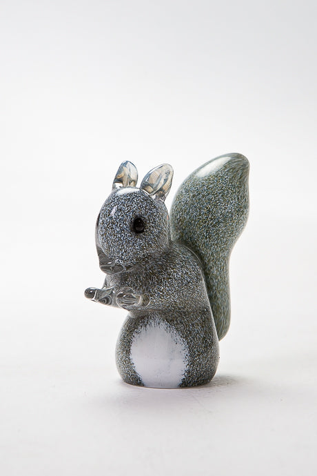 Grey Squirrel handmade figurine at Langham Glass
