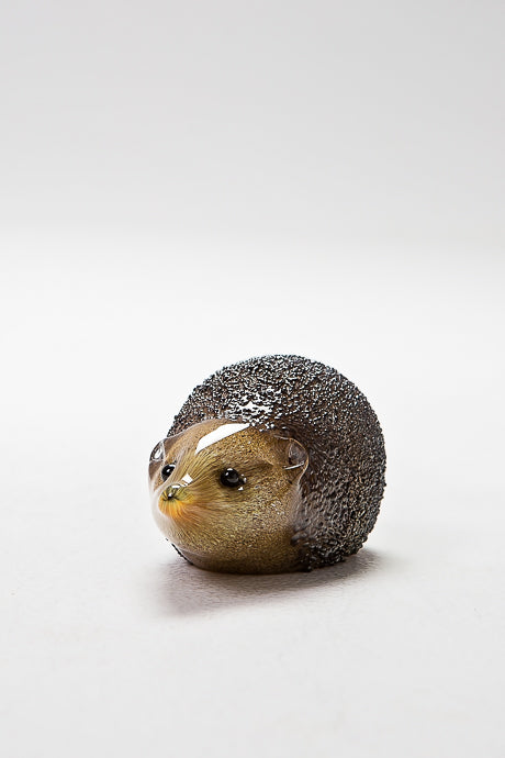 Delicate handmade Hedgehog by Langham Glass, Norfolk