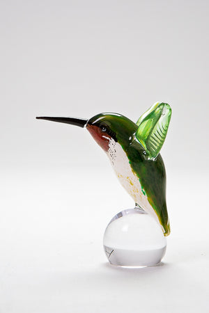 Handcrafted glass Hummingbird