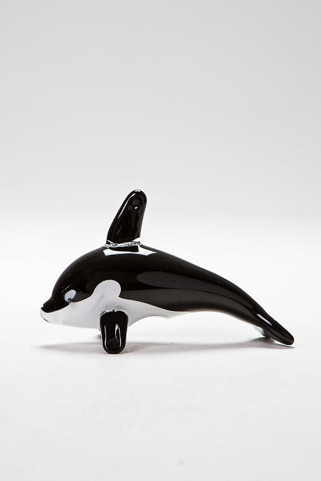 Glass Killer Whale by Langham Glass, Norfolk