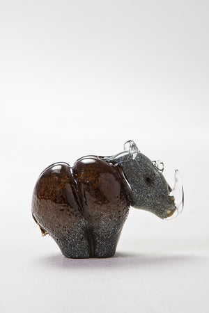 Rhino handmade at Langham Glass, Norfolk