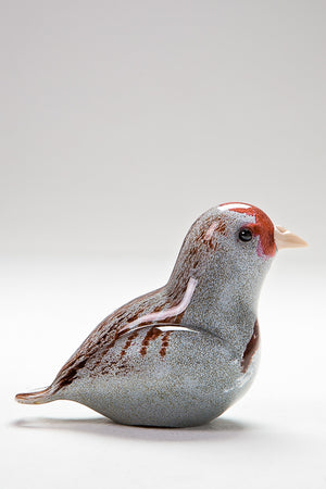 Handmade glass Partridge
