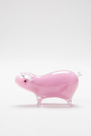 Handmade glass pig by Langham Glass