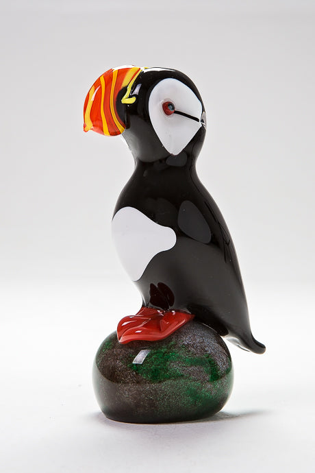 Handmade glass Puffin