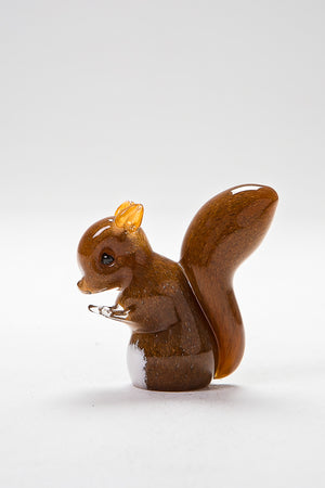 Handcrafted Red Squirrel by Langham Glass, Norfolk