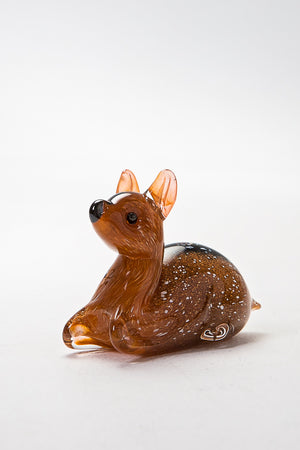 Resting Fawn handmade at Langham Glass, Norfolk