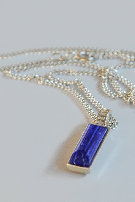 Forever into glass cremation ashes necklace