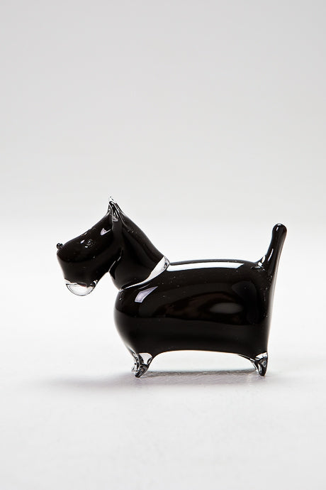 Handmade Scottie Dog, made by Langham Glass, Norfolk