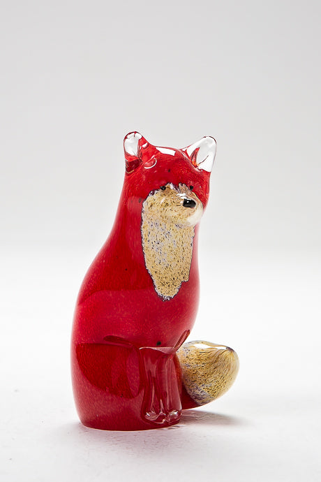 Sitting Fox, handmade by Langham Glass in Norfolk