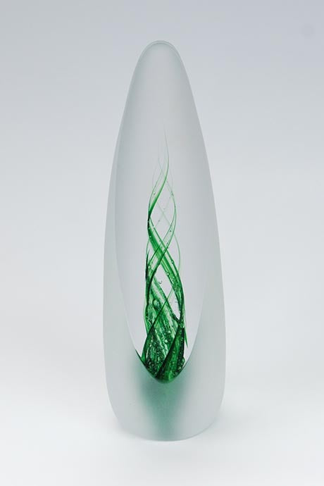 Forever into Glass Spirit Paperweight in Emerald