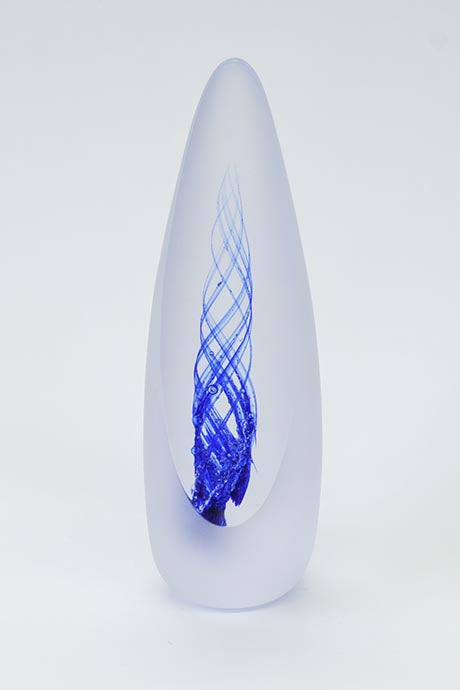 Forever into Glass Spirit Paperweight in Sapphire