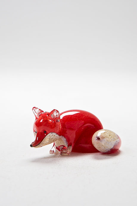 Stalking Fox, handmade at Langham Glass