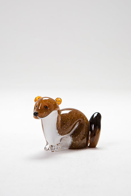 Handmade Stalking Stoat, made in Norfolk at Langham Glass