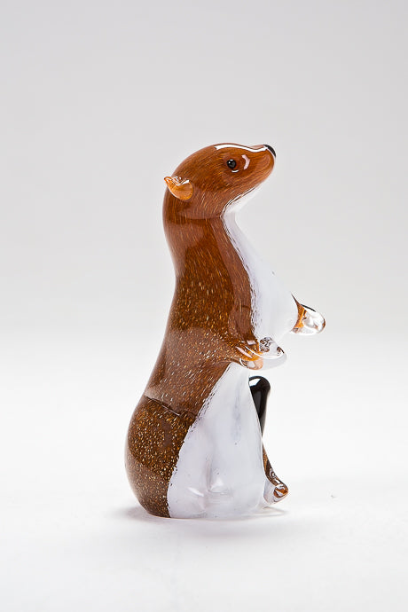 Standing Stoat, handmade at Langham Glass, Norfolk