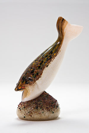 Trout Diving by Langham Glass Norfolk