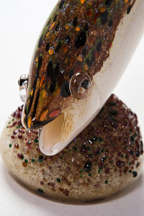 Beautiful Diving Trout by Langham Glass, Norfolk