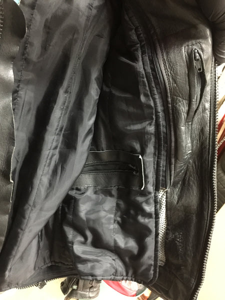Leather biker jacket size XL