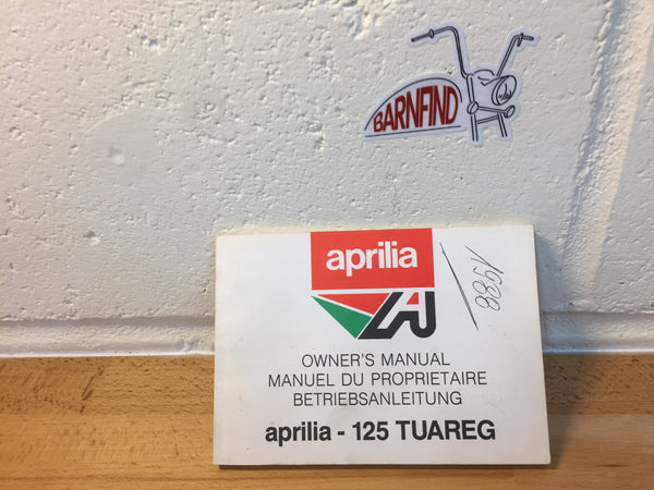 Aprilia Tuareg 125 Owner's Manual