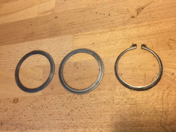 Honda CB250N Superdream sprocket circlip and spacers